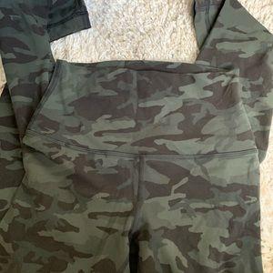 Pants - Lululemon army green leggings aligns size 4